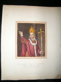 Ackermann History of Oxford 1815 H/Col. Henry Chichely, Archbishop of Canterbury